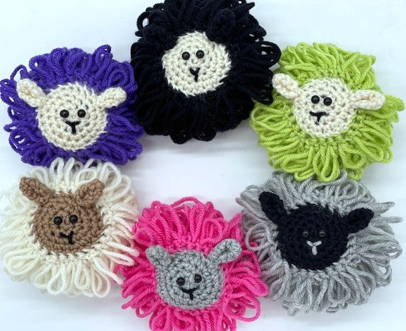 Sheep Ornaments Crochet Pattern by Sharpin Designs