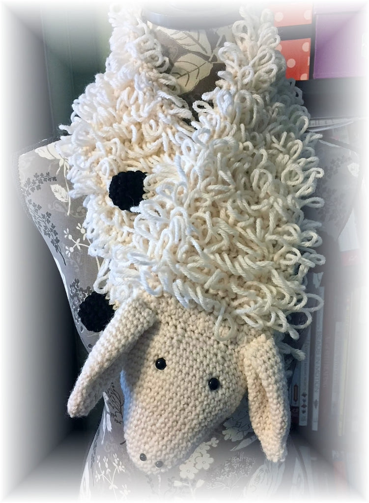 Sheep Scarf Crochet Pattern by Sharpin Designs