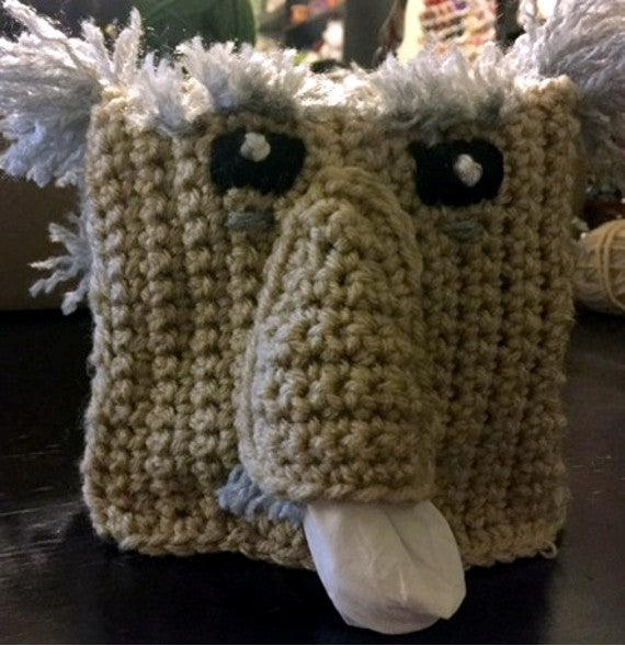 Sneezy Grandpa Tissue Box Cover Crochet Pattern by Sharpin Designs