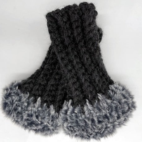 Warm and Wooly Fingerless Mitts by Sharpin Designs