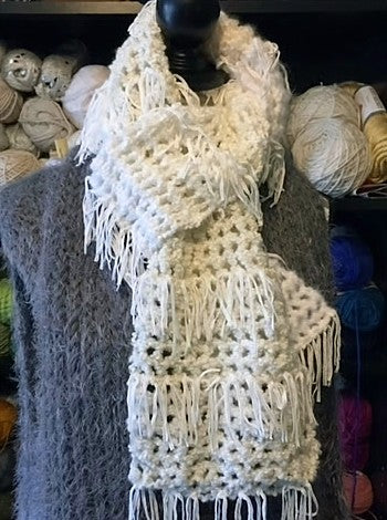Wintery Mix Scarf Free Crochet Pattern by Sharpin Designs