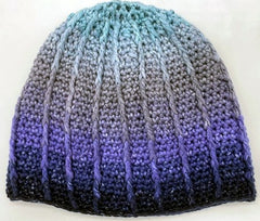 Color Dip Beanie in Cumulus Rainbow - Adult