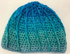 Color Dip Beanie in Cumulus Rainbow - 0-6 Mos