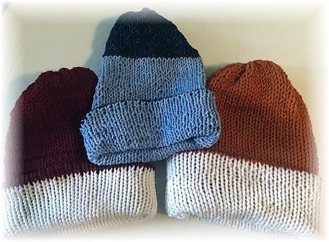 Reversible Knit Hats by Sharpin Designs