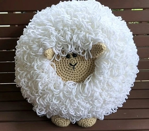 Crochet Sheep Pillow Pattern by Sharpin Designs