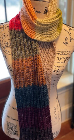 Mad Tosh Advent Calendar 2020 Scarf by Sharpin Designs