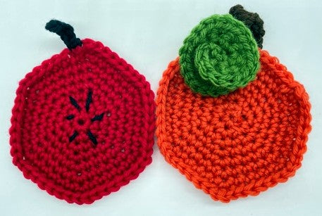 Apple and Pumpkin Coasters by Sharpin Designs