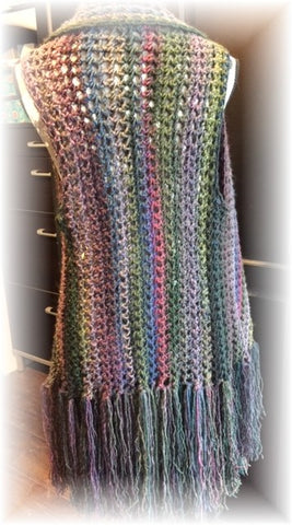 Asymmetrical Crochet Vest Pattern by Sharpin Designs