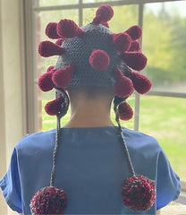 Crochet Corona Virus Hat Pattern by Sharpin Designs