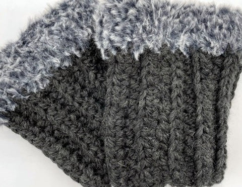 Warm and Wooly Boot Cuffs by Sharpin Designs