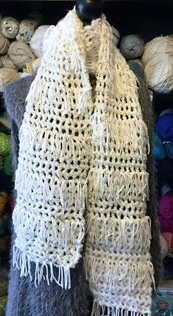 Wintery Mix Free Crochet Scarf Pattern by Sharpin Designs