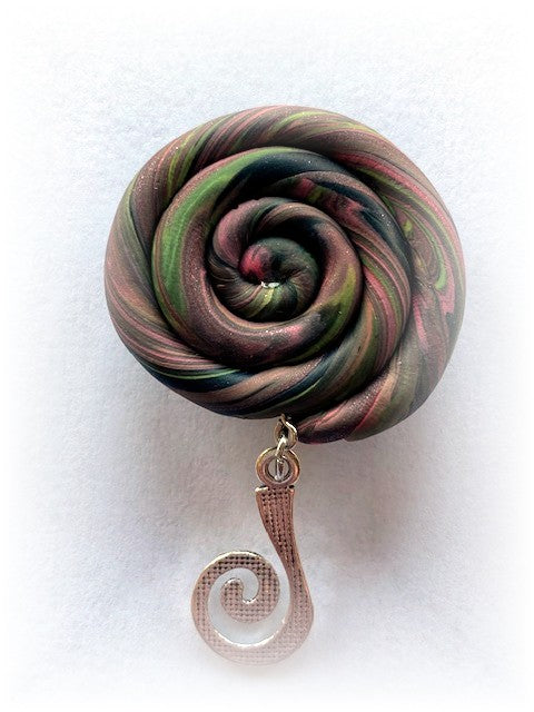 Swirl Portuguese Knitting Pin- Magnetic - Made for Portuguese Knitting