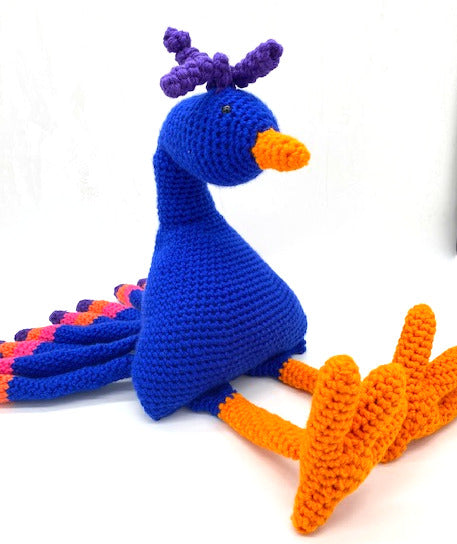 Bird Buddy Peacock Crochet Amigirumi Pattern
