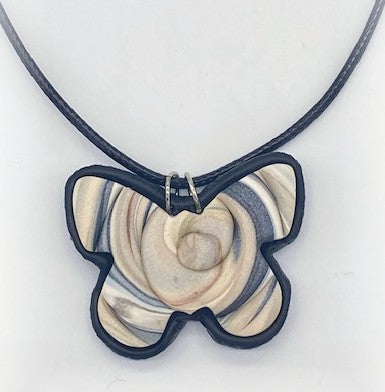 Butterfly Polymer Clay Necklace by Sharpin Designs