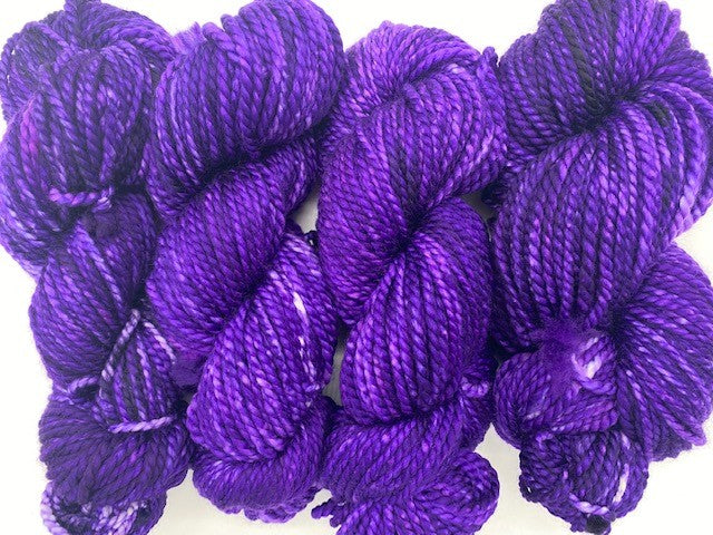 Friday Night Fibers Mixer - Grape Schnapps Bulky Weight Hand Painted Hand Dyed Yarn