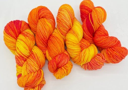 Friday Night Fibers Tequila Sunrise DK by Sharpin Designs