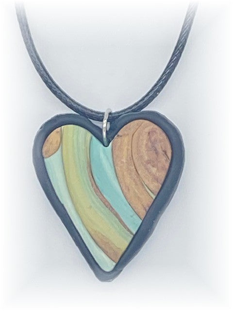Sweet Heart Polymer Clay Necklace by Sharpin Designs
