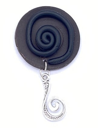 Circles Portuguese Knitting Pin- Magnetic - Made for Portuguese Knitting