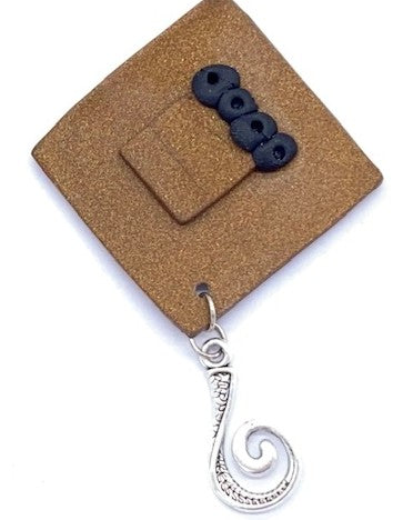 Diamond  Portuguese Knitting Pin- Magnetic - Made for Portuguese Knitting