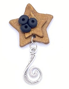 Stars Portuguese Knitting Pin- Magnetic - Made for Portuguese Knitting