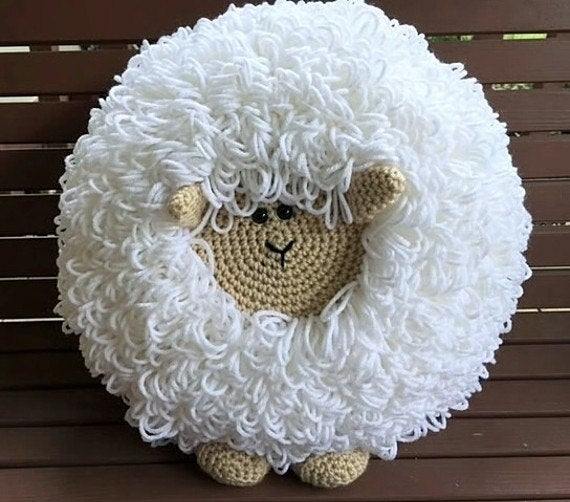 Crochet Sheep Pillow Pattern