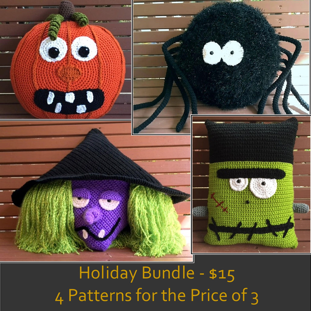 Halloween Pillow Patterns Holiday Bundle - 4 Patterns for the Price of 3