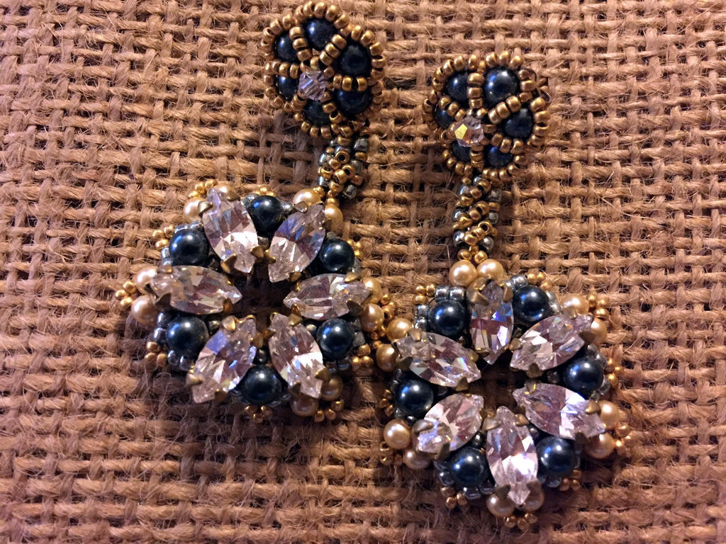 Beadwoven Earrings - Stardust