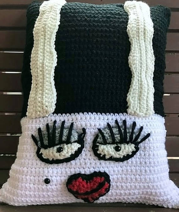 Frankie's Gal Crochet Pillow Pattern Bride of Frankenstein
