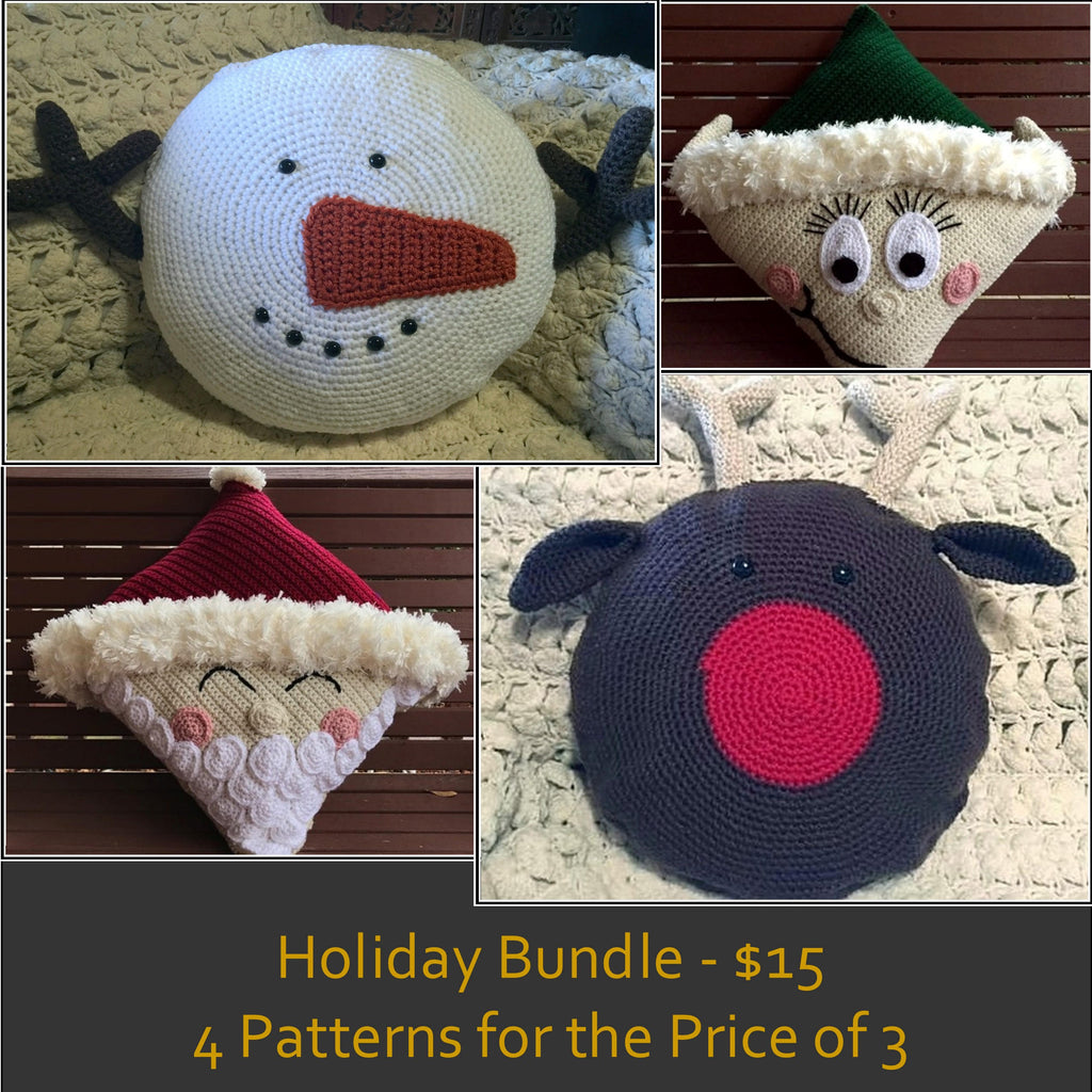 Christmas Pillow Patterns Holiday Bundle - 4 Patterns for the Price of 3