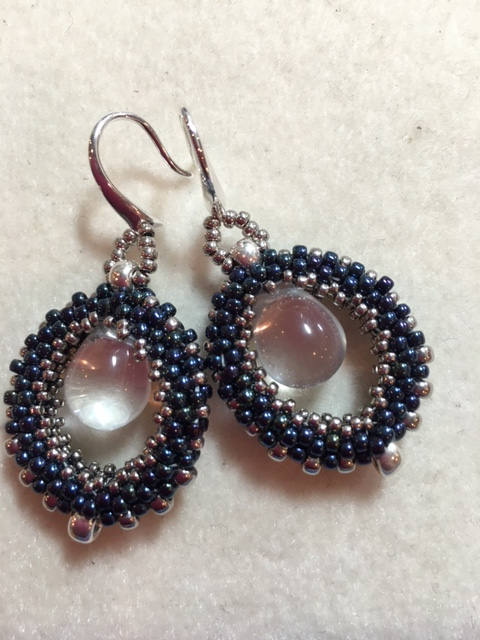 Honey Dew Beadwoven Earrings