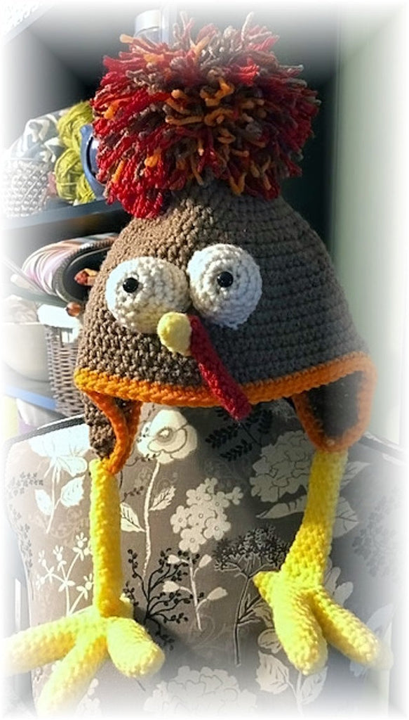 Birdbrain Turkey Hat: Crochet Turkey Trot Hat Pattern