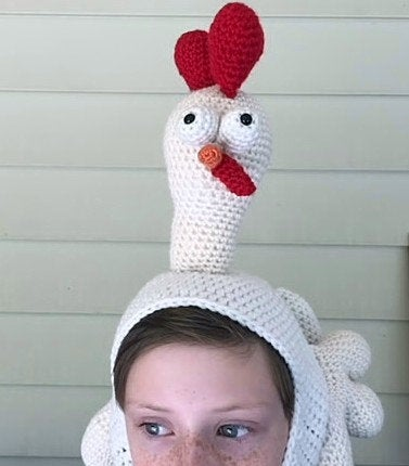 Birdbrain Chicken Hat: Crochet Chicken Hat Pattern
