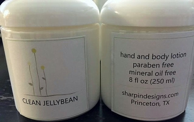 Handmade Lotion - Paraben Free, Dye Free, Fragrance Free, Mineral Oil Free - 8 Ounce Jar