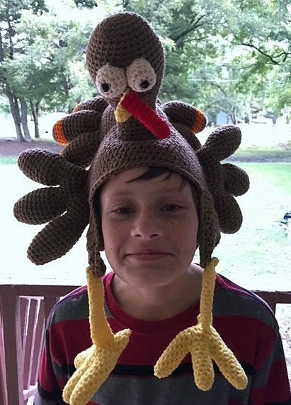 Birdbrain Turkey Hat: Crochet Turkey Hat Pattern
