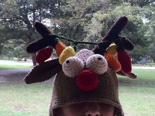 Holiday Head: Rudolph the Reindeer Hat Crochet Pattern