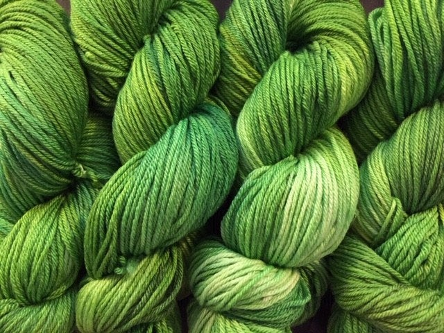 Friday Night Fibers Green Eyed Monster DK Weight Hand Painted Hand Dyed Yarn