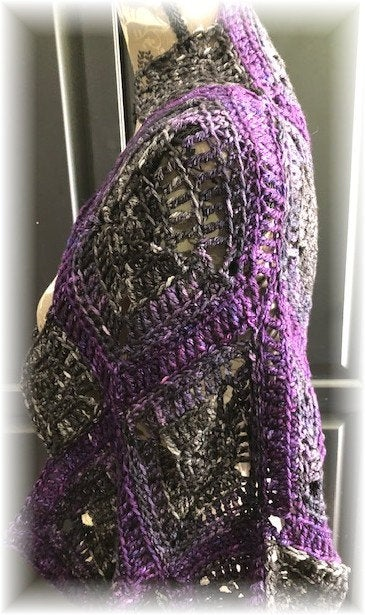 Square Dance Shrug Scarf Pattern