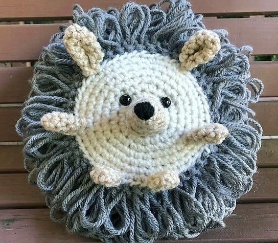 Crochet Hedgehog Amigurumi Toy