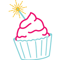 Celebration Fantastic Cupcake Logo