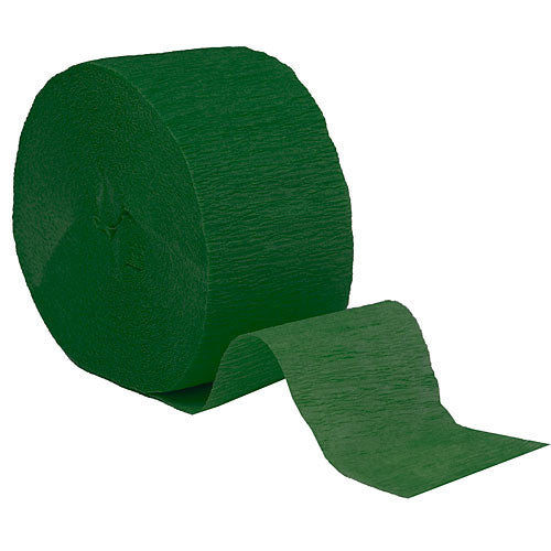 "Emerald Green Crepe Streamers, Roll, 1.75""X500'"