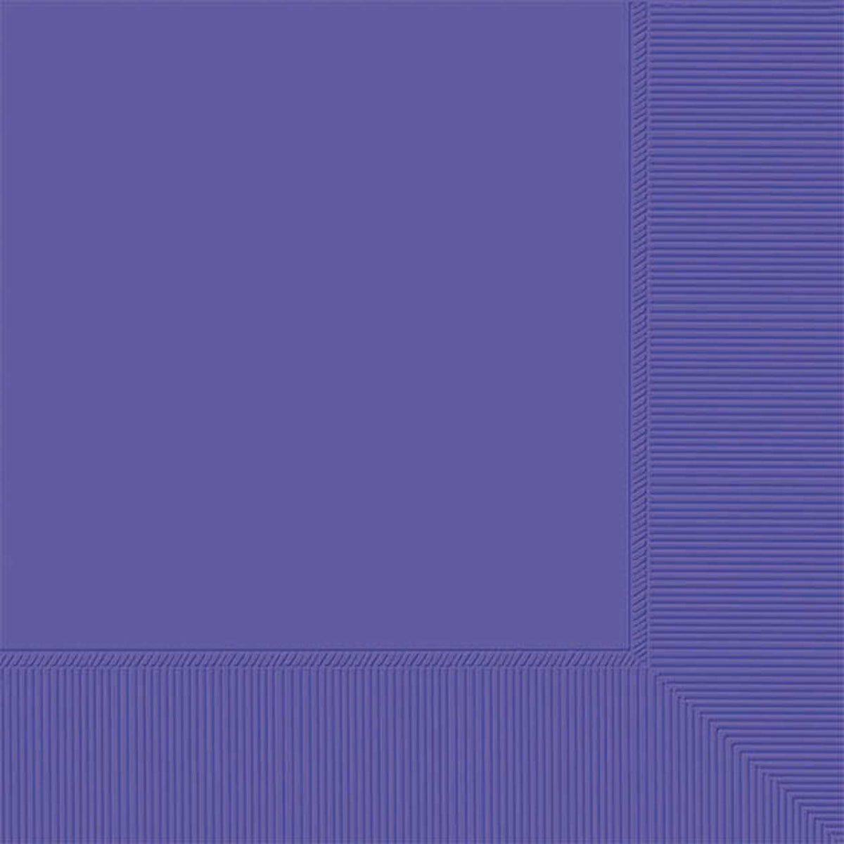 Purple Luncheon Napkin Plain, Pkg/50