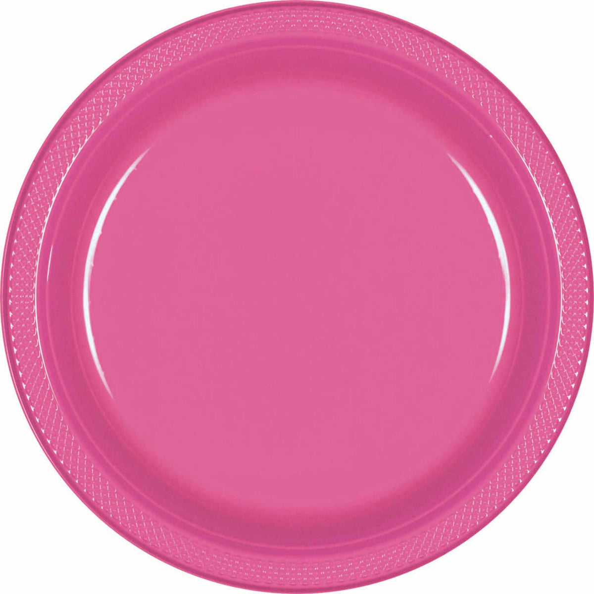 Candy Pink Plastic Plates, Pkg/20, 9""