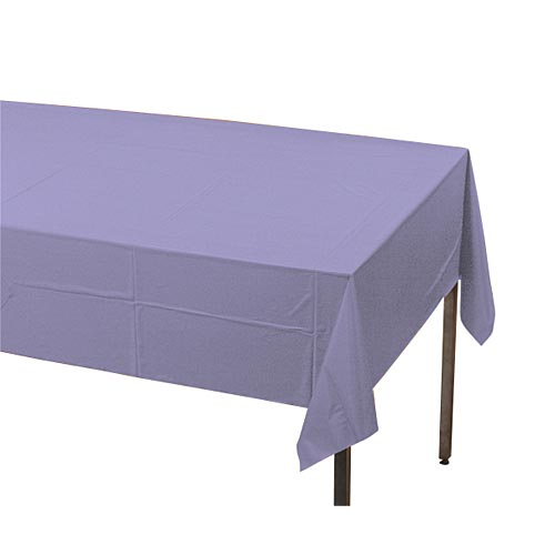 "Luscious Lavender Plastic Table Cover, Each, 54"" X 108"""