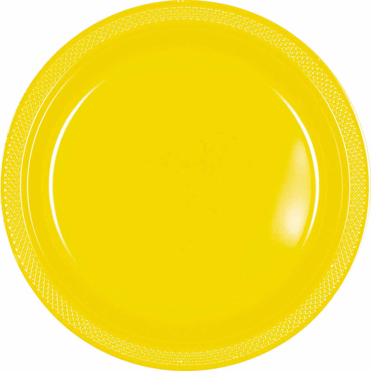 School Bus Yellow Plastic Plates, Pkg/20, 7""
