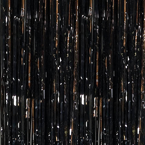 Black Foil Curtain, 3'X8'