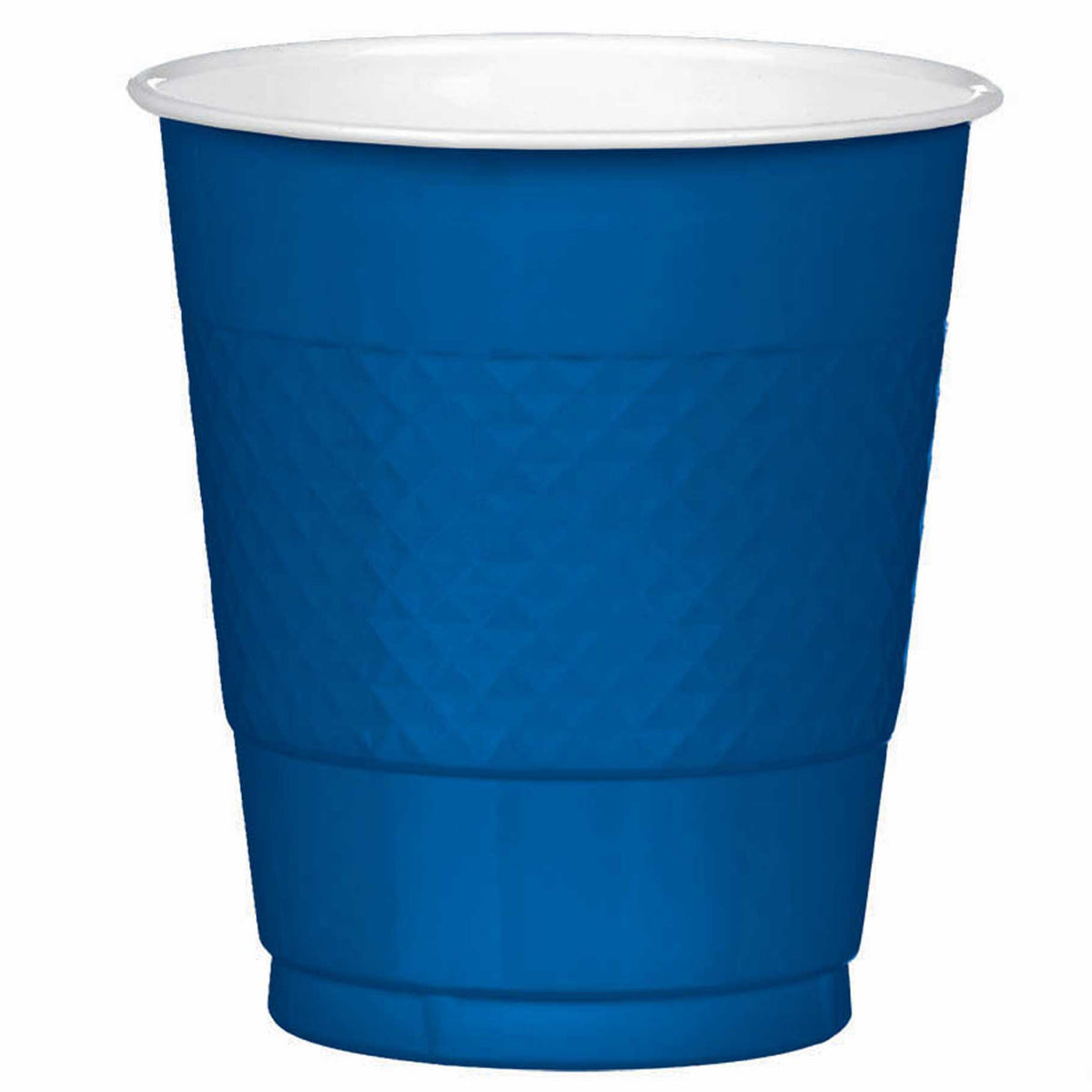 Navy Plastic Cups, Pkg/20, 12 oz