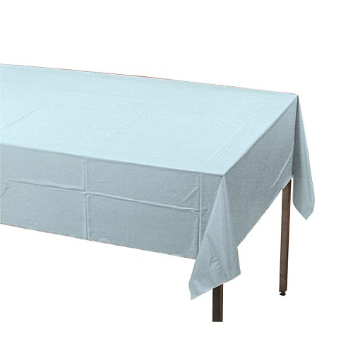 "Pastel Blue Plastic Table Cover, Each, 54"" X 108"""