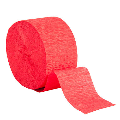 "Red Crepe Streamers, Roll, 1.75""X81'"