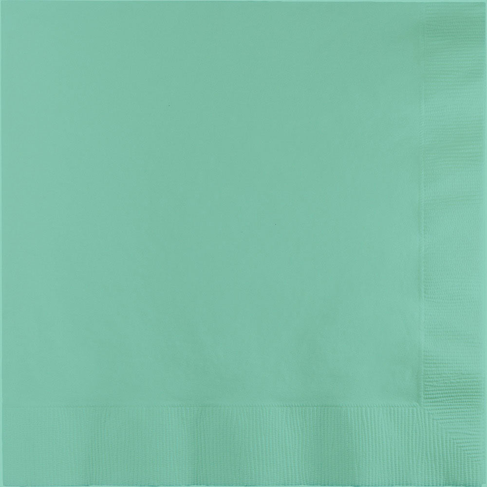 Fresh Mint Beverage Napkin Plain, Pkg/50