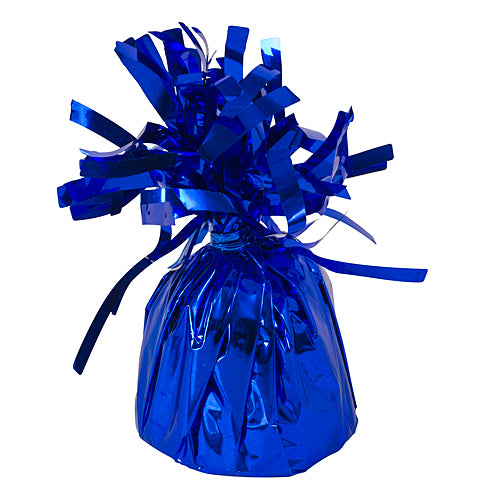 Royal Blue Foil Ballons Weights, Pkg/6